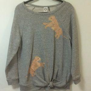 Anthropologie tiger sweatshirt